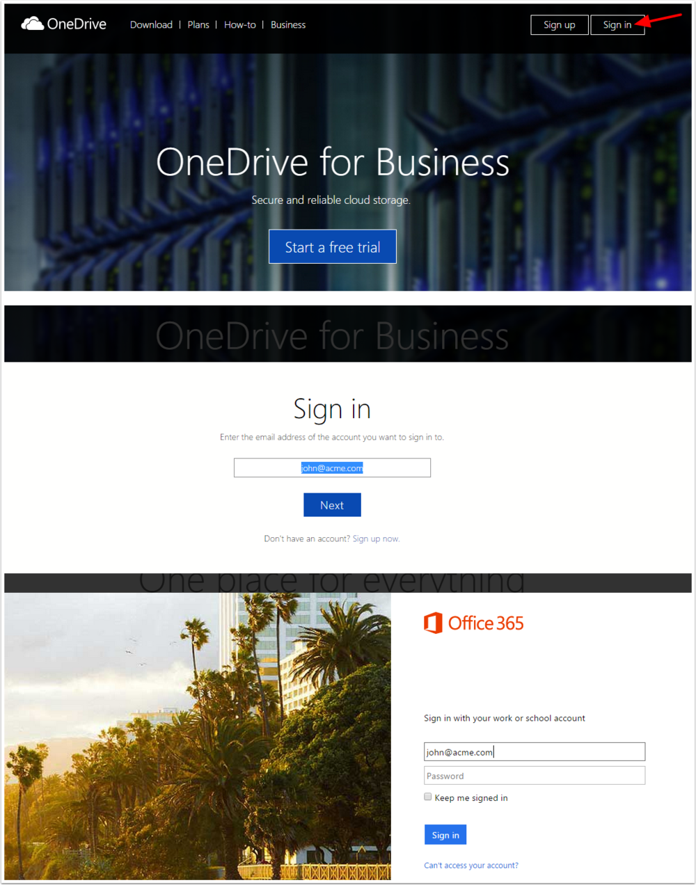 Sharing a file using OneDrive for Business